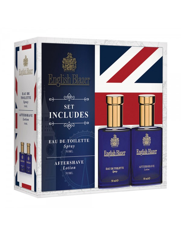 English Blazer 2 piece gift set - 50ml Edt and 50 ml after shave