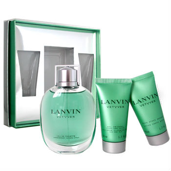 Lavin Vetyver, 3pcs Giftset (includes 30ml & 50ml AfterShave Balm & 50ml ShowerGel)