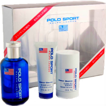 Polo Sport for Men by Ralph Lauren 3pc Gift Set (includes 125ML EDT & 75ml Shower Wash & 150ml Deodorant)